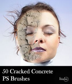 50 Cracked Concrete PS Brushes