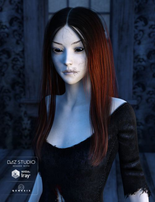 Sorrow Hair for Genesis 3 Female(s)
