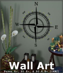 Wall Art for Poser and Daz Studio
