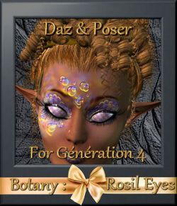 Botany : Rosil Eyes for Daz and Poser
