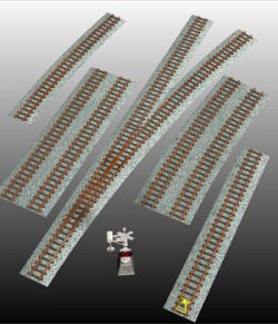 RAILWAY TRACKS BUNDLE- props for Poser and.OBJ