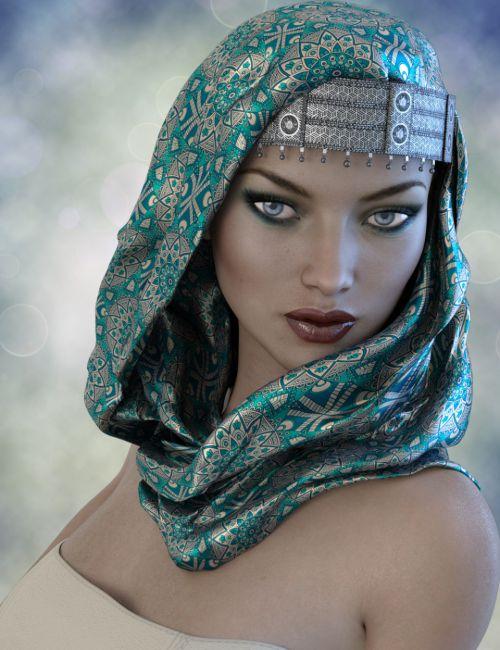 X-Fashion Turban Scarf for Genesis 3 Female(s)