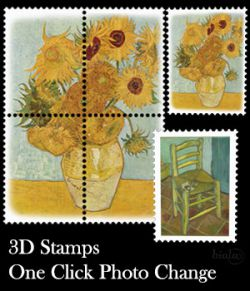 3D Stamps One Click Photo Change
