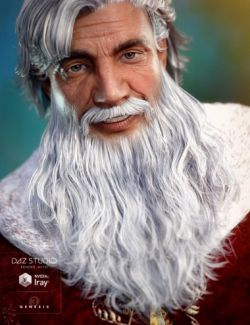 Santa Beard for Genesis 3 Male(s)