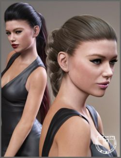 Sporty Ponytail Hair and OOT Hairblending 2.0 for Genesis 3 Female(s)