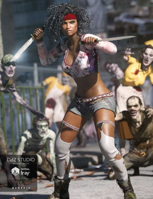 Urban Rogue Outfit for Genesis 3 Female(s)