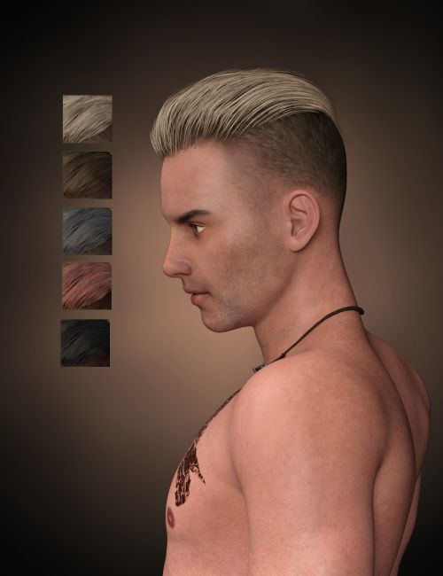 Pompadour Trend Hair For Genesis 3 Males 3d Models For Poser And