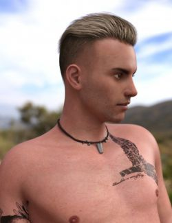 Pompadour Trend Hair for Genesis 3 Male(s)