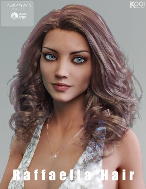 Raffaella Hair for Genesis 3 Female(s)