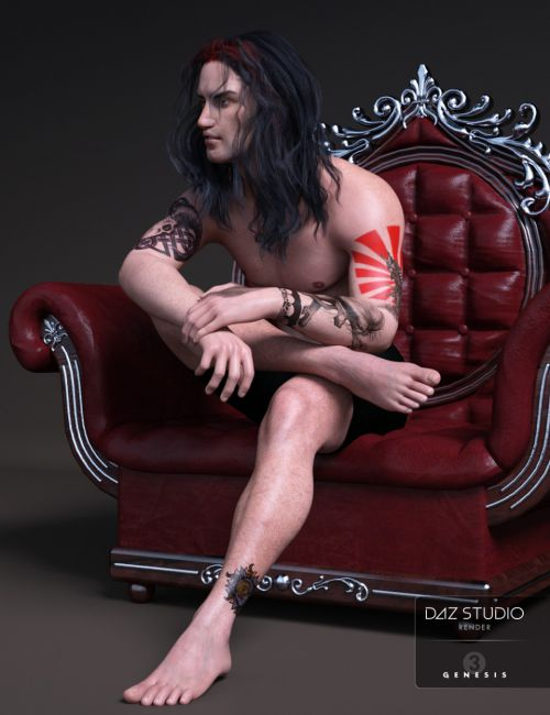LIE Tattoo Presets for Genesis 3 Male