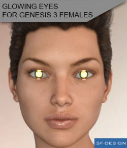 Glowing Eyes for Genesis 3 Females