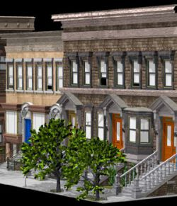 Brownstone Street Scene 1 (for iClone)