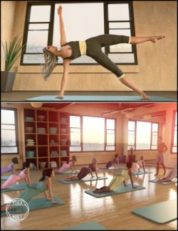 i13 Yoga Pose Collection for the Genesis 3 Female(s) and Genesis 3 Male(s)