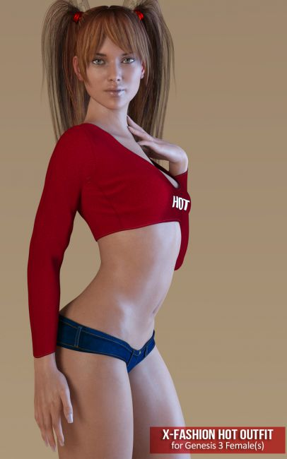Fashion Hot Outfit for Genesis 3 Females