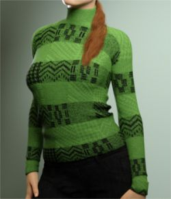 Warm Turtleneck for Genesis 3 Females