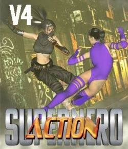 SuperHero Action for V4 Volume 1