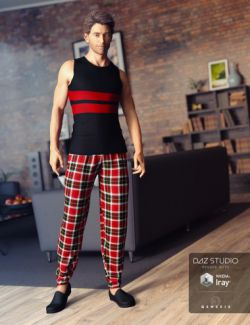 Relaxed Night Outfit for Genesis 3 Male(s)