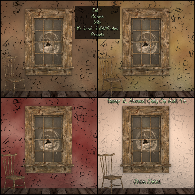 Grunged Interior Wall Shaders For Daz Studio 3Delight