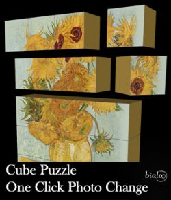 Cube Puzzle One Click Photo Change