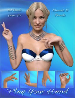 Play Your Hand Poses for Genesis 3 Female