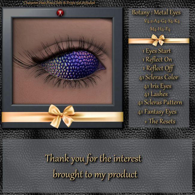 Botany : Metal Eyes for Daz and Poser
