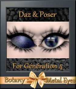 Botany: Metal Eyes for Daz and Poser