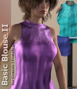 Basic Blouse 2 for Genesis 3 Female