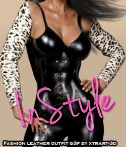 InStyle- Fashion Leather Outfit for Genesis 3 Females