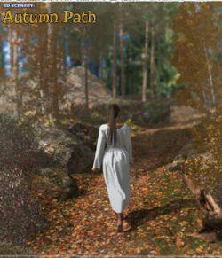 3D Scenery: Autumn Path