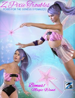 Z Pixie Troubles - Poses for the Genesis 3 Female(s)