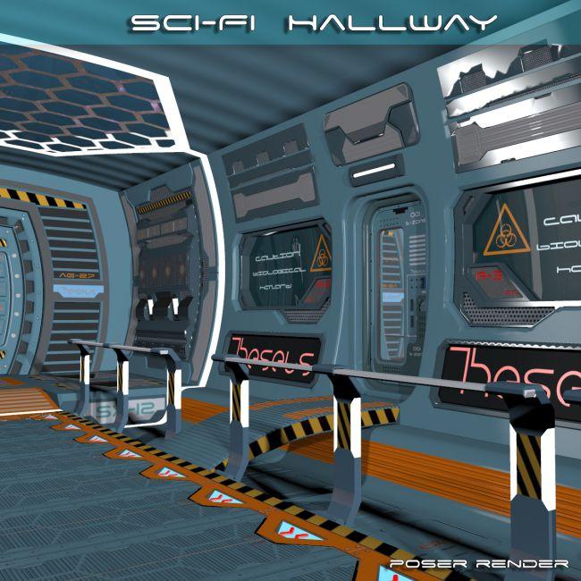 AJ SciFi Hallway