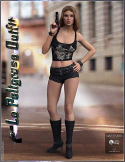 La Peligrosa Outfit and Accessories for Genesis 3 Female(s)