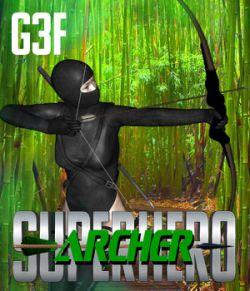 SuperHero Archer for G3F Volume 1