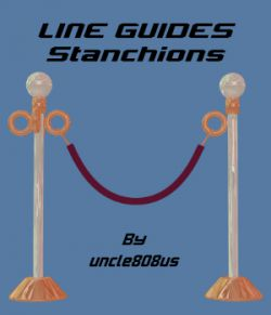 LineGuides_Stanchions FBX OBJ non exclusive
