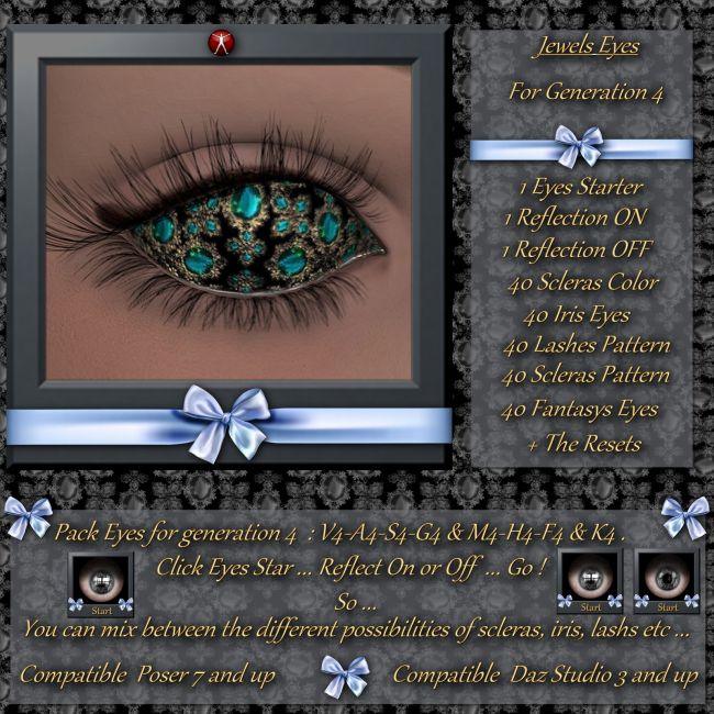 Jewels : Eyes Pack 01 for Daz and Poser