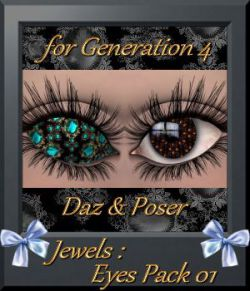 Jewels: Eyes Pack 01 for Daz and Poser