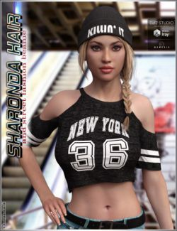 Sharonda Hair and Street Fashion Beanie for Genesis 3 Female(s)