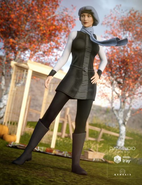 Autumn Chic Outfit for Genesis 3 Female(s)