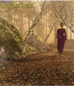 3D Scenery: Autumn Road