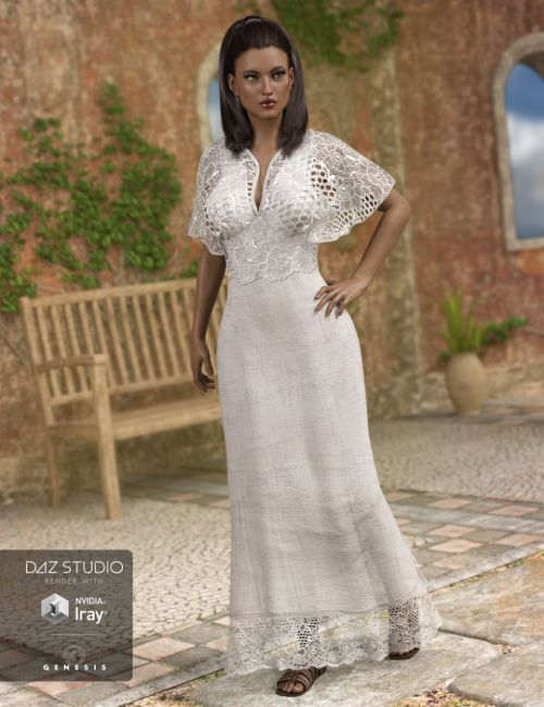 Summer Maxi Dress for Genesis 3 Female(s)