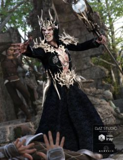 Undead Wizard Outfit for Genesis 3 Male(s)