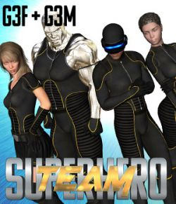 SuperHero Team for G3F & G3M Volume 1