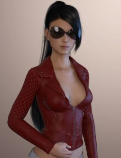 X-Fashion Leather Jacket for Genesis 3 Female(s)
