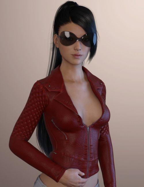 X-Fashion Leather Jacket for Genesis 3 Female(s)