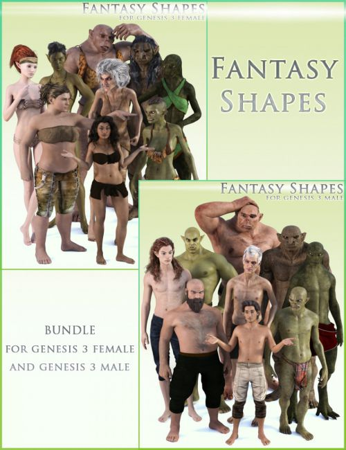 HFS Fantasy Shapes for Genesis 3 Bundle