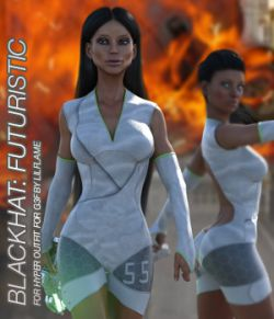 BLACKHAT:FUTURISTIC- Hyper Outfit for Genesis 3 Females