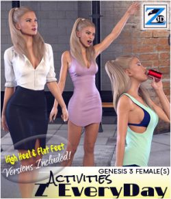 Z Every Day Activities- Poses for the Genesis 3 Females