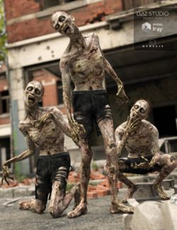 Capsces Living Dead Poses and Expressions for Markus Zombie