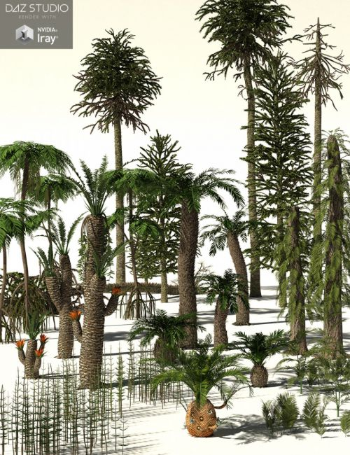 RPC Volume 6: Mesozoic Plants and Trees for Daz Studio and Vue