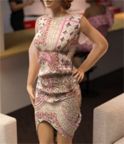 Lowback Glamour Dress for Genesis 3 Females